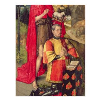 Links Platte, vom Hauptaltar polyptych Postkarte