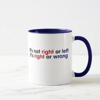 Links und rechter Flügel Tasse