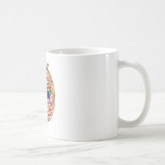 Links und Risht Seite des Gehirns Kaffeetasse