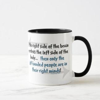 Linkshändige Leute Tasse