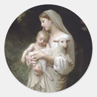 L'Innocence William-Adolphe Bouguereau 1893 Runder Aufkleber