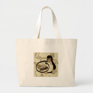LINUX INNERHALB Tuxs das Linux-Pinguin-Logo Jumbo Stoffbeutel
