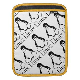 Linux-Logo mit Tux der Linux-Pinguin iPad Sleeve