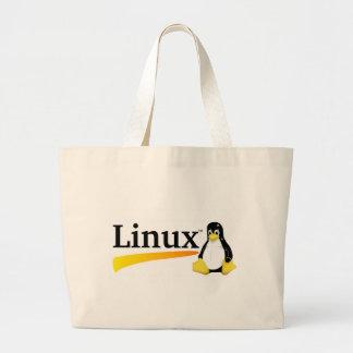Linux-Logo mit Tux-Produkten Jumbo Stoffbeutel