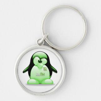 Linux-Minze mit Tux-Logo Schlüsselanhänger