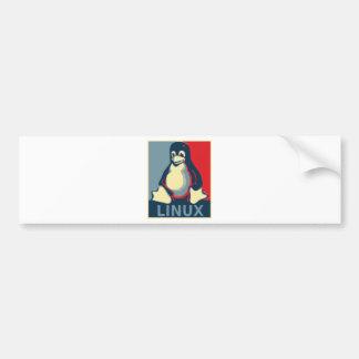 Linux-Smoking-Pinguin klassisches Obama-Plakat Autoaufkleber