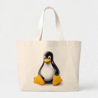 Linux Tux der Pinguin Jumbo Stoffbeutel