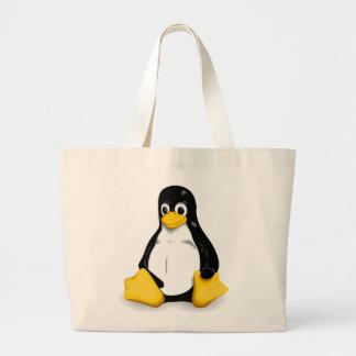 Linuxtux-Taschen-Taschen Jumbo Stoffbeutel