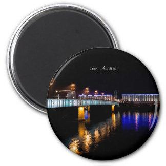Linz, Österreich Runder Magnet 5,1 Cm