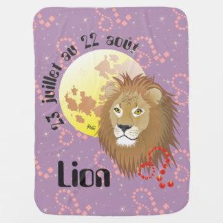 Lion 23 juillet au 22 août Couverture bébé Babydecke