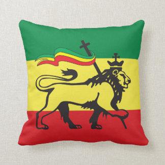 Lion of Judah - Haile Selassie - Rastafari Pillow Kissen
