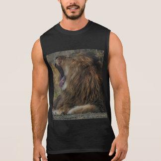 Lion Yawn Sleeveless T Shirt