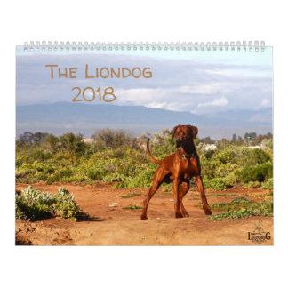 Liondog - Rhodesian Ridgeback Kalender 2018