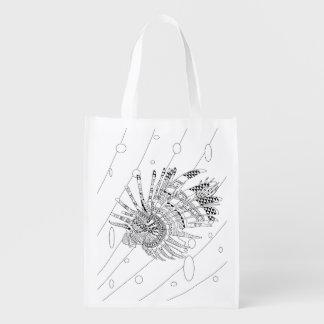 Lionfish-erwachsene Farbton-Tasche Wiederverwendbare Einkaufstasche