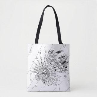 Lionfish-erwachsener Farbton-volle Tasche