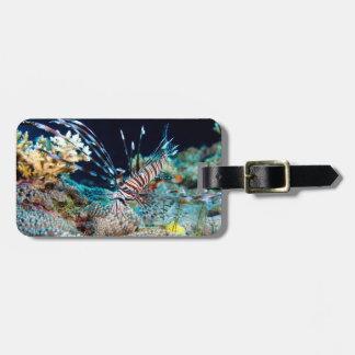 Lionfish-Great Barrier Reef Korallenmeer Gepäckanhänger