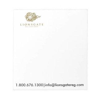 Lionsgate wirklicher Anwesen-Gruppen-Notizblock Notizblock