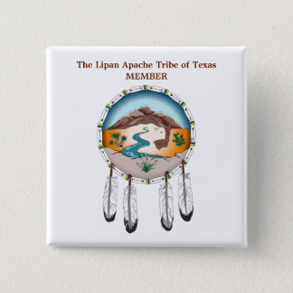 Lipan Apache Stamm des Quadratischer Button 5,1 Cm