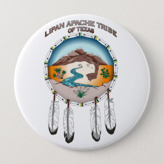 Lipan Apache Stamm von Texas 4 Zoll-runder Knopf Runder Button 10,2 Cm