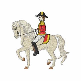 Lipizzaner Pferd und Reiter Bestickte Fleece Track Jacke