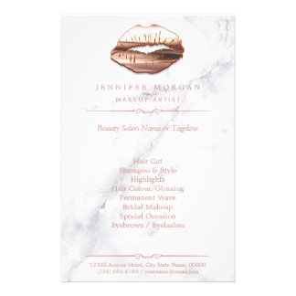 Lippen des Rosen-Gold3d marmorn Flyer