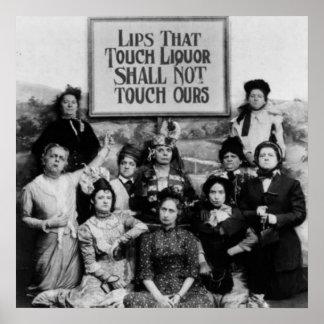 Lippen, die Touch-Alkohol nicht Touch unsere soll Poster