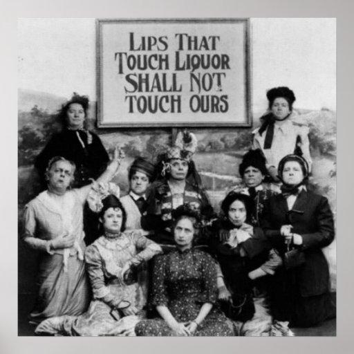 Lippen, die Touch-Alkohol nicht Touch unsere soll Plakatdruck