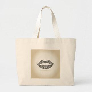 Lippen Jumbo Stoffbeutel