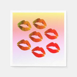 Lippen, sexy serviette