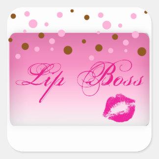 Lippenchef-Aufkleber Quadratischer Aufkleber