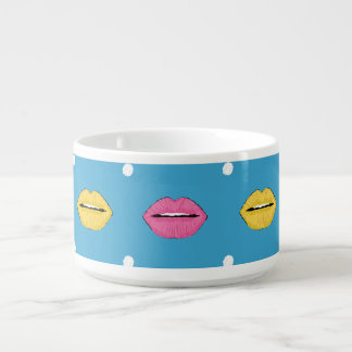 LippenPopkunst-Modemuster mit Punkten Schüssel