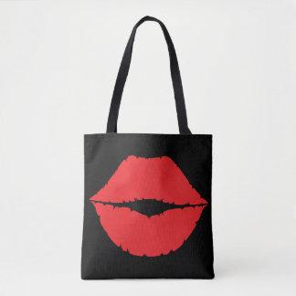 Lippenrote Kuss-Lippengrafisches Kuss-Kennzeichen Tasche