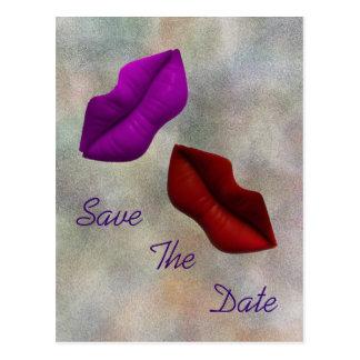 LippenSave the Date Verpflichtungs-Zeremonie Postkarten