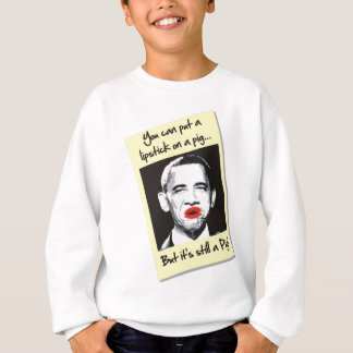 Lippenstift auf einem Schwein Sweatshirt