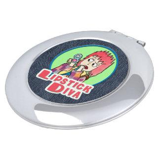 Lippenstift-Diva Taschenspiegel