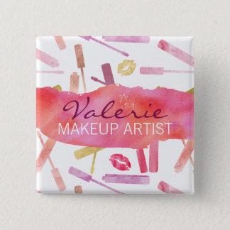 Lippenstift-Glanze und Quadratischer Button 5,1 Cm