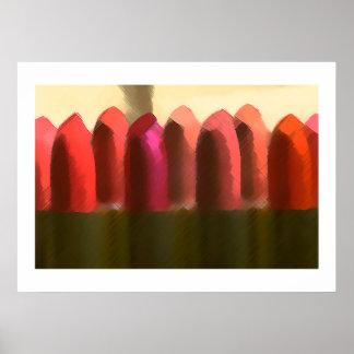 Lippenstift in den roten Farbmädchen erhielt, Spaß Plakatdrucke