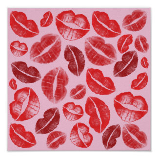 Lippenstift-Küsse Poster