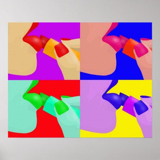 Lippenstift - Popkunstplakat Plakat