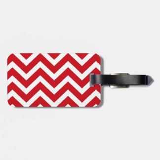 Lippenstift rot und weißer Valentine-Zickzack Gepäckanhänger