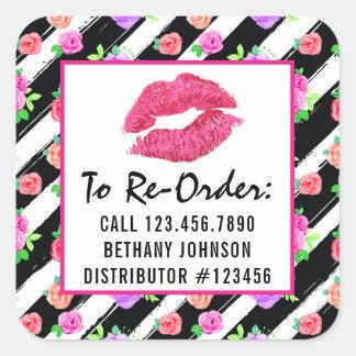Lippenstift-Verteiler-ordnen bezaubernder Quadratischer Aufkleber