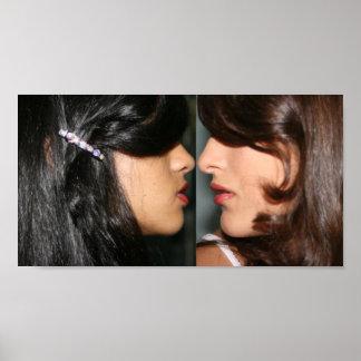 Lippenstiftmädchen Poster