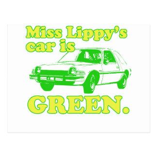 Lippy Auto Postkarte