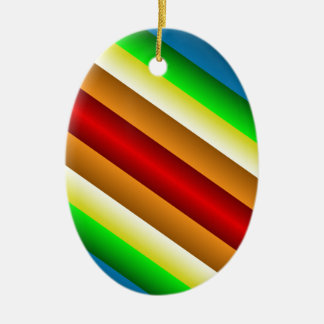 Liquidartz zweischneidiger Regenbogen Keramik Ornament