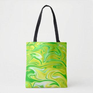 Liquidized Gelbgrün-Marmor-Muster, Tasche