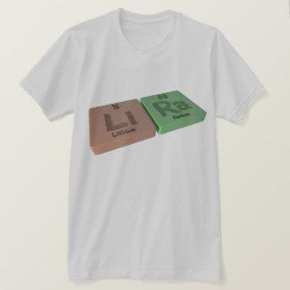 Lira als Li-Lithium und Ra-Radium T-Shirt