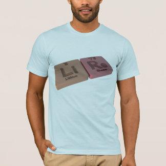 Lire als Li-Lithium und Rerhenium T-Shirt