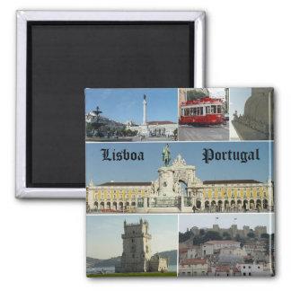 Lisbao, Lissabon, Portugal Quadratischer Magnet