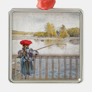 Lisbeth-Fischen durch Carl Larsson Silbernes Ornament