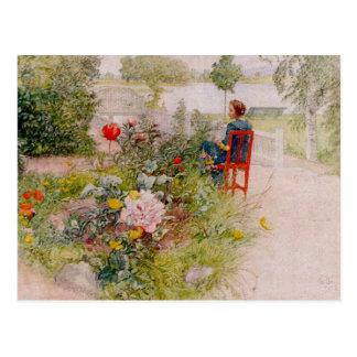 Lisbeth im Blumen-Garten Postkarte
